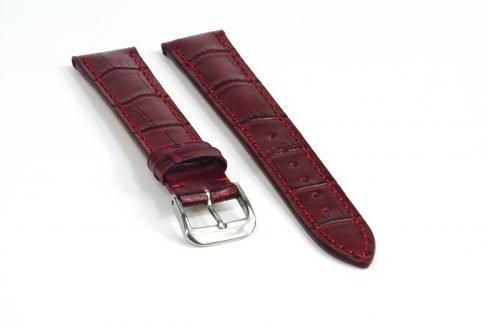 Uhrenarmband aus Leder in rot
