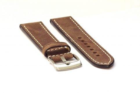 Uhrenarmband aus Leder in der Farbe mokka