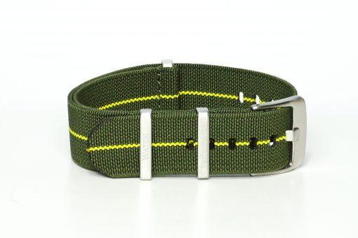 elastic Nato in den Farben army grün und gelb