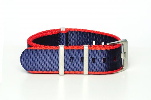 Seatbelt Uhrenarmband in den Farben rot und blau