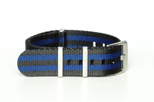 Seatbelt Uhrenarmband in den Farben schwarz und blau
