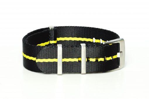 Seatbelt Uhrenarmband in den Farben schwarz und gelb